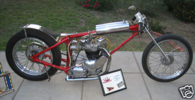 Triumph Bobber Land Speed Racer